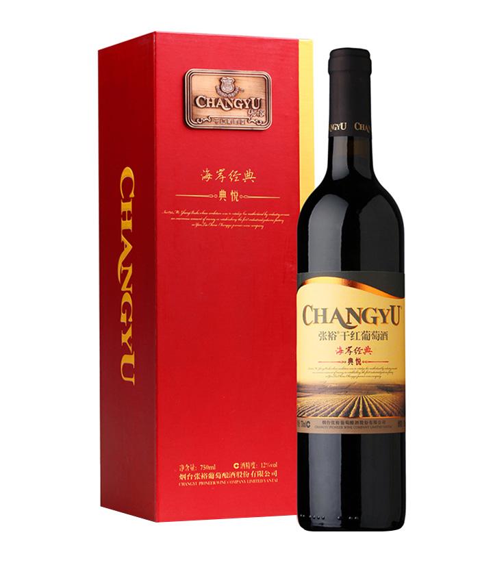 12°张裕典悦干红葡萄酒750ml 件
