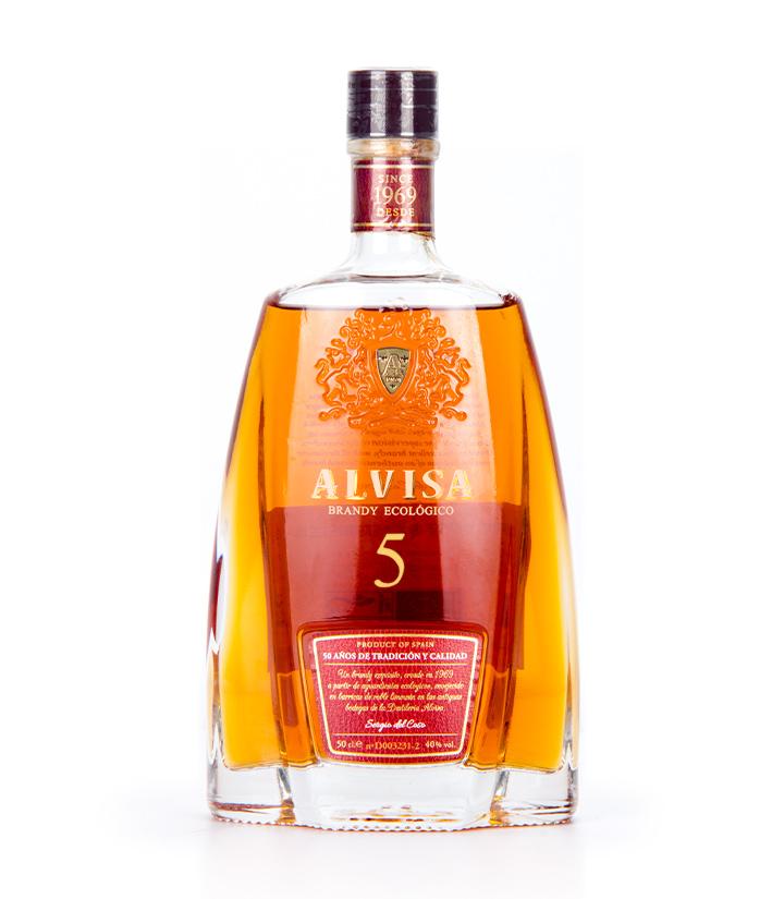 西班牙阿勒维萨5年橡木桶陈酿白兰地500ml 瓶