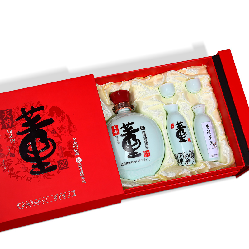 54°董酒天香礼盒1L 瓶