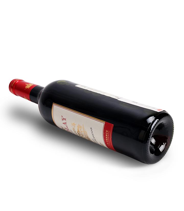 12°法国妮珂莱红葡萄酒750ml