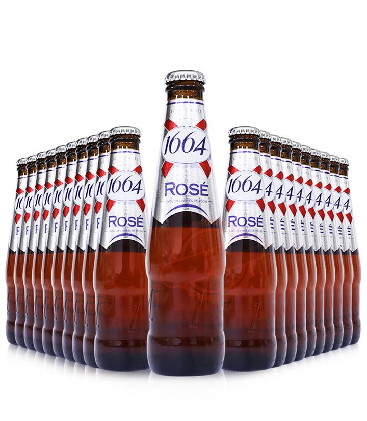 法国1664(克伦堡)玫瑰啤酒250ml 瓶