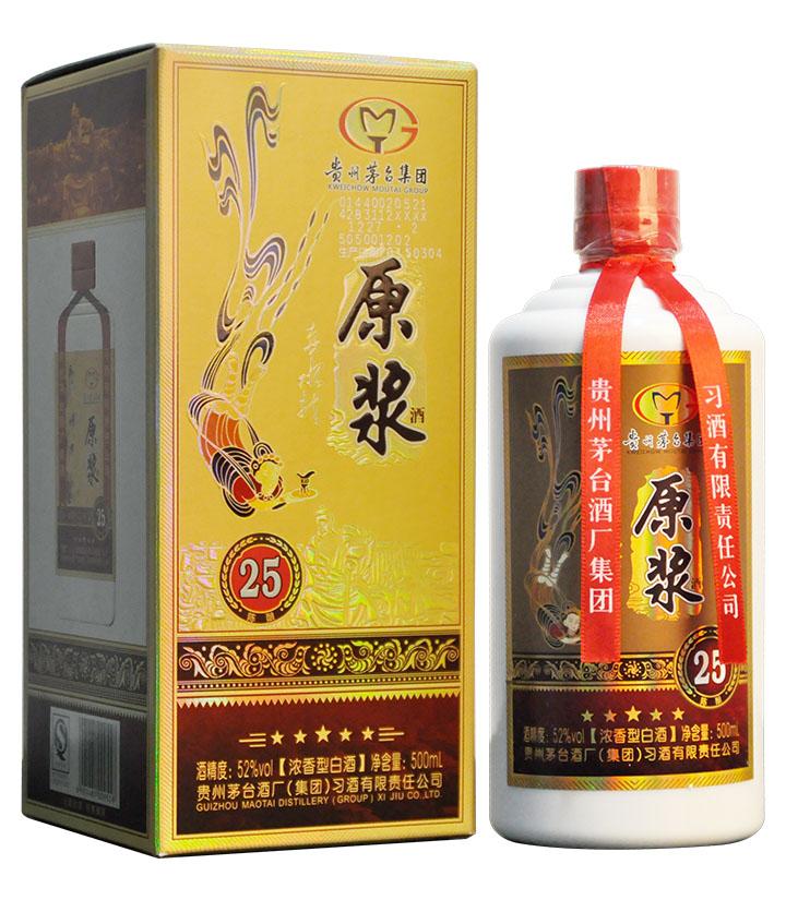 52°贵州习酒赤水龙原浆25陈酿500ml