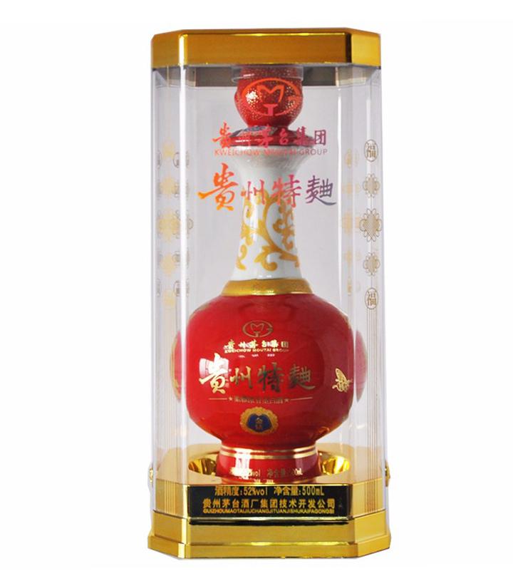 52°茅台技开贵州特曲金钻透明桶500ml 件
