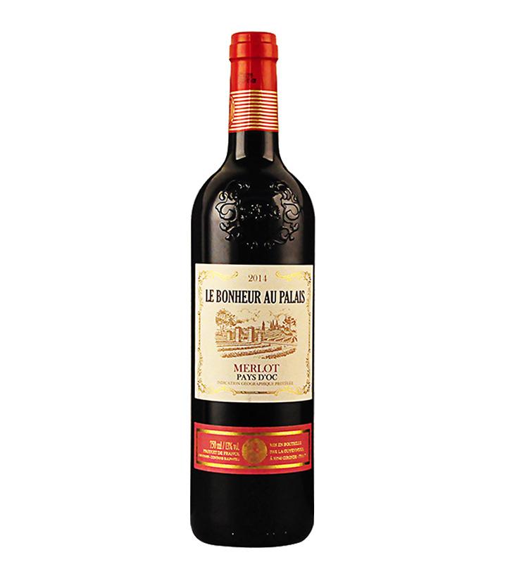 13°法国艺术家庄园·梅洛红葡萄酒IGP(烤花瓶)750ml