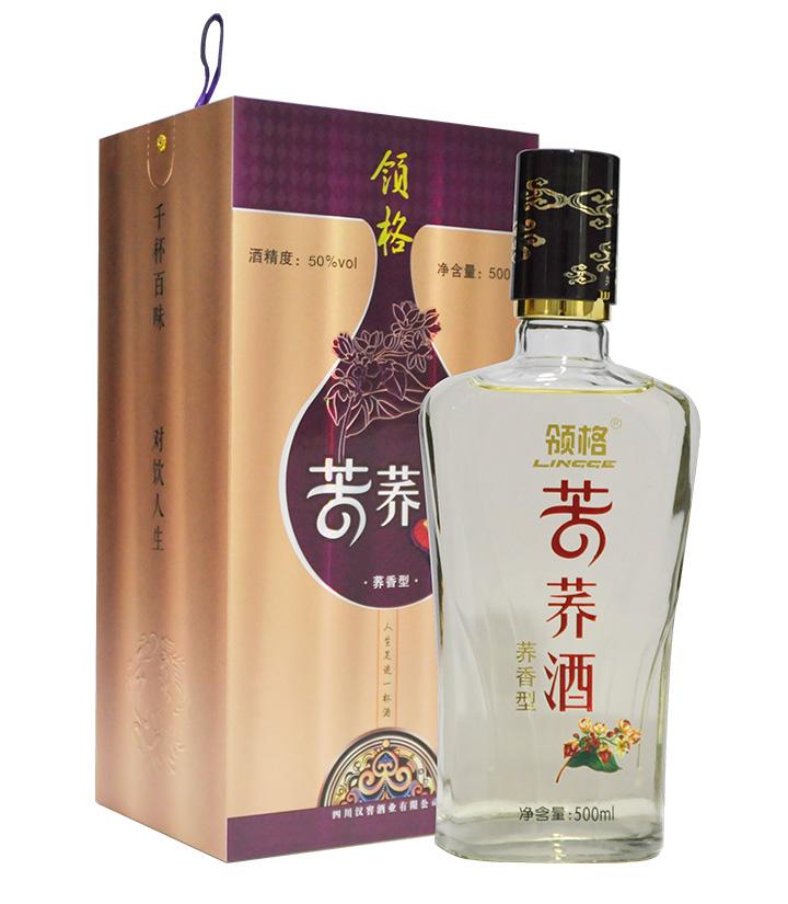 50°领格苦荞酒(盒装)500ml 瓶