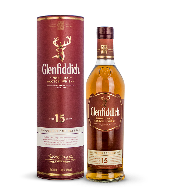 英国格兰菲迪15年单一纯麦芽威士忌700ml 件