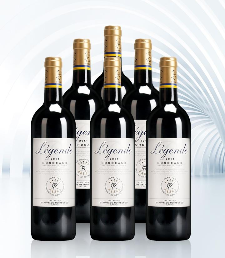12.5°法国拉菲传奇波尔多红葡萄酒750ml 件