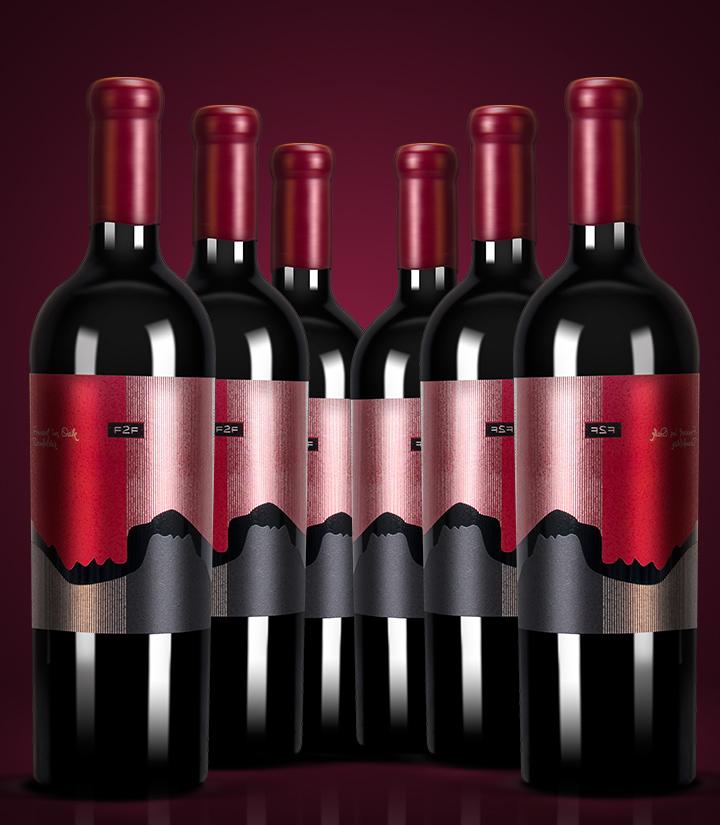 12.5°保加利亚面对面丹菲特干红葡萄酒750ml