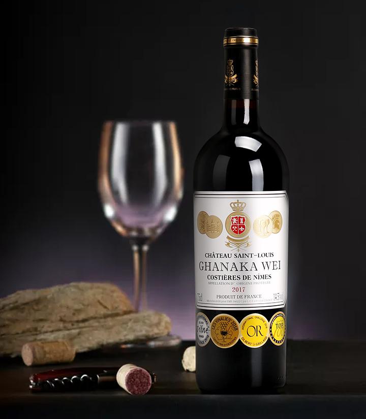 14.5°法国加拿卡威城堡干红葡萄酒750ml