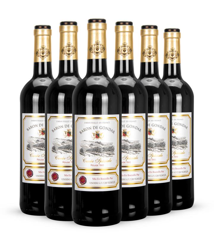 13°法国贡德尔男爵特酿干红葡萄酒750ml