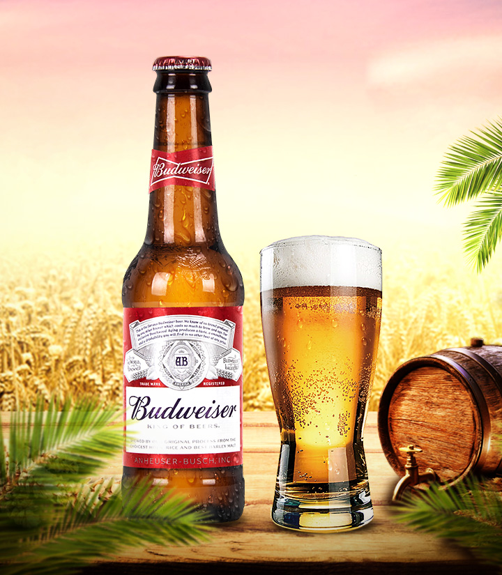 百威啤酒(红标玻璃瓶)300ml
