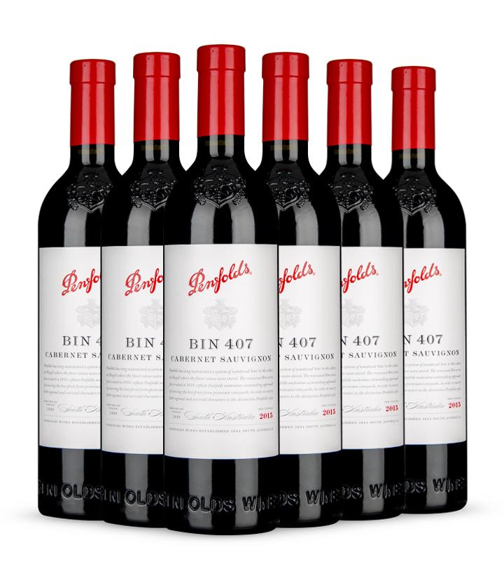 14.5°澳洲奔富407嘉本纳沙威浓红葡萄酒(木塞)750ml