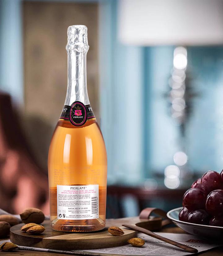 11°法国佩兰德桃红半干起泡葡萄酒750ml 瓶