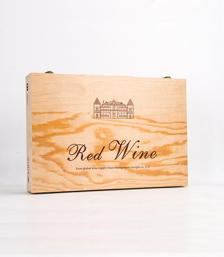 红酒单排6支装木盒(通用)