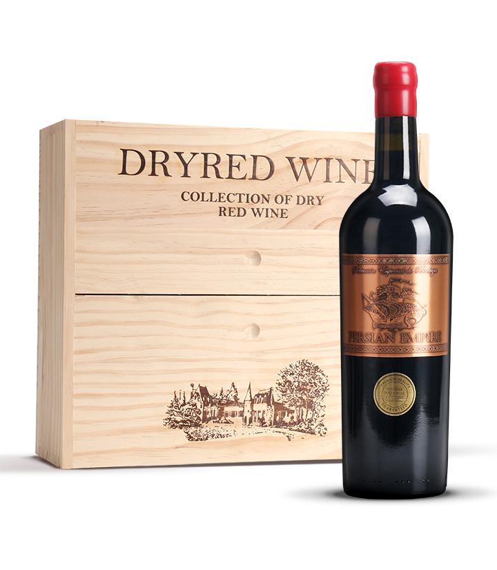 15°西班牙波斯帝国干红葡萄酒(配三支装木盒)750ml*3
