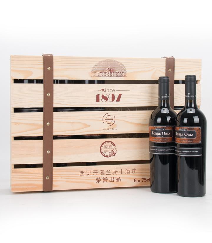 13°西班牙奥兰大师佳酿干红葡萄酒750ml(搭赠6支装木盒)