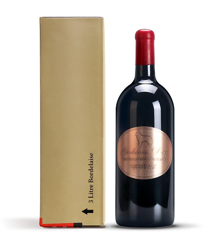 14°澳洲金狗西拉干红葡萄酒3L