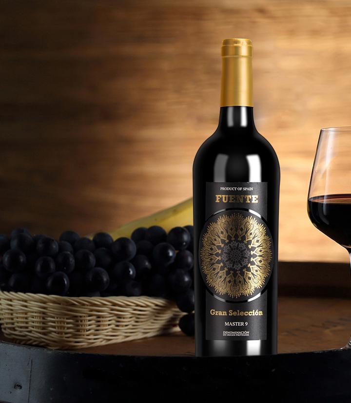 12°西班牙富恩特金标干红葡萄酒750ml