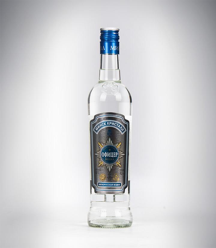 白俄罗斯明斯克水晶军官伏特加500ml 瓶