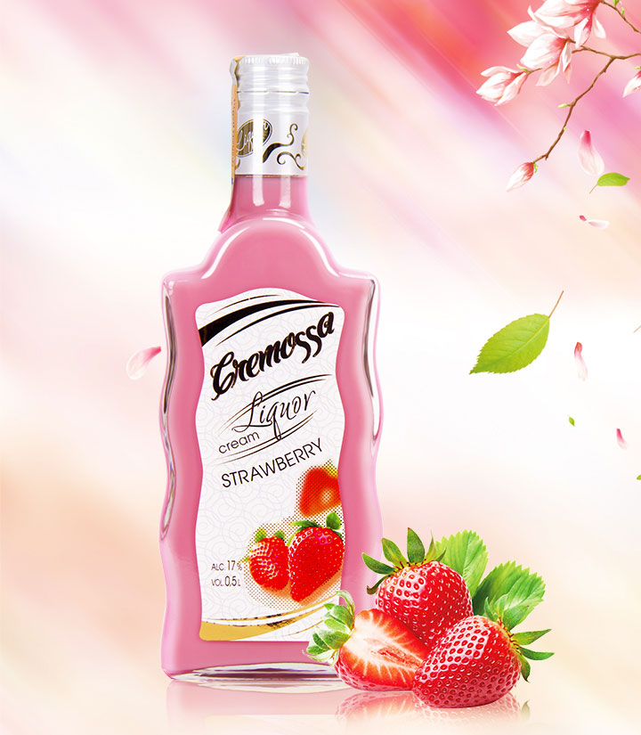 白俄罗斯克利莫萨草莓味奶油利口酒500ml 瓶