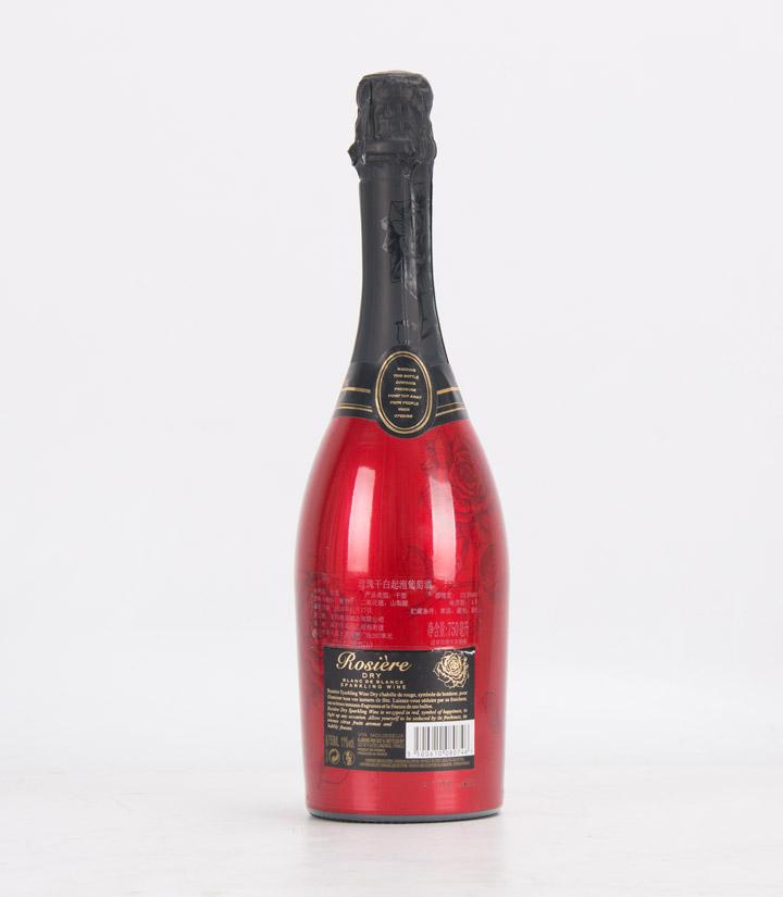 10.5°法国玫瑰干白起泡葡萄酒750ml 瓶