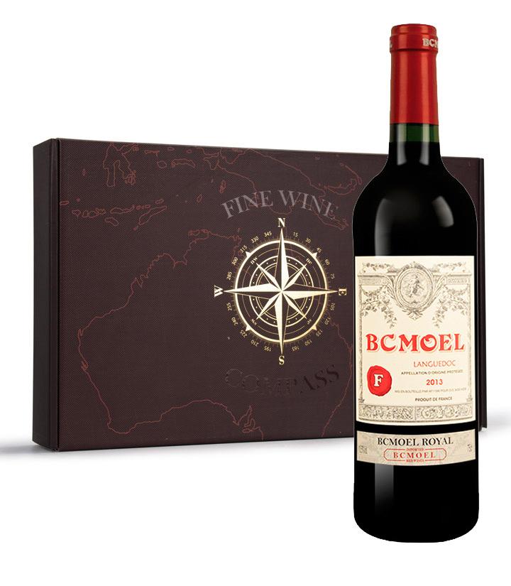 13.5°法国柏翠莫埃尔皇家干红葡萄酒750ml 瓶