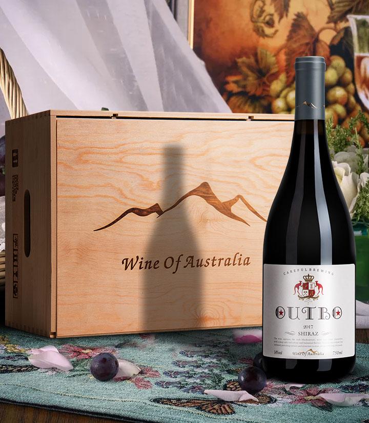 14°澳洲奥德伯西拉干红葡萄酒750ml 件