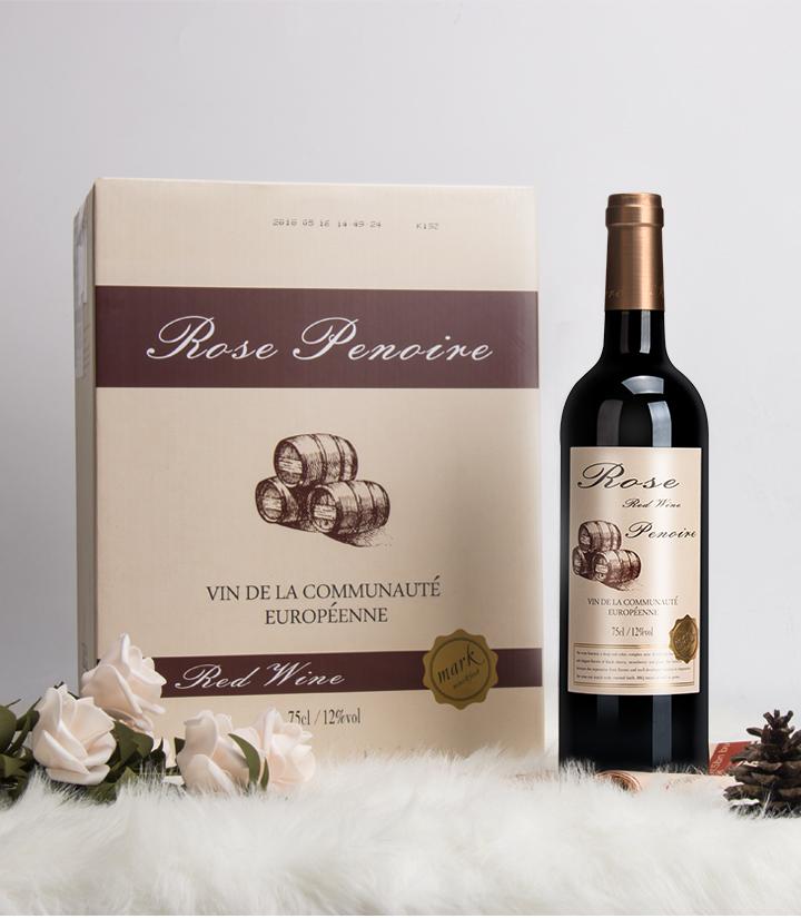 12°法国红皮诺典藏干红葡萄酒750ml 件