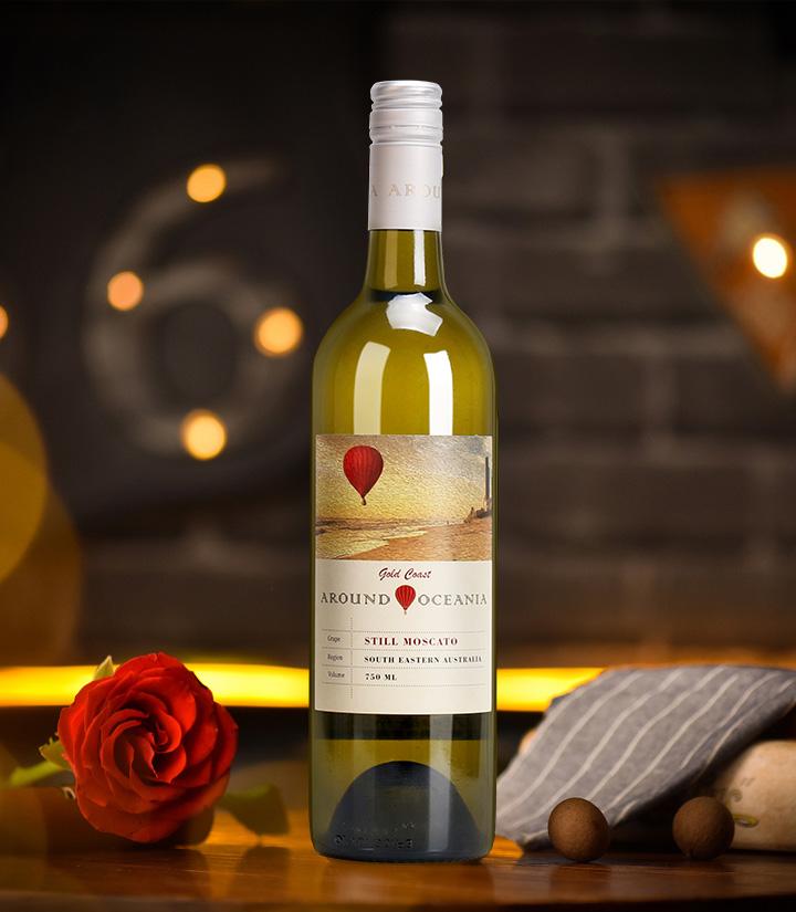 8°澳洲环澳莫斯卡托甜白葡萄酒750ml 瓶