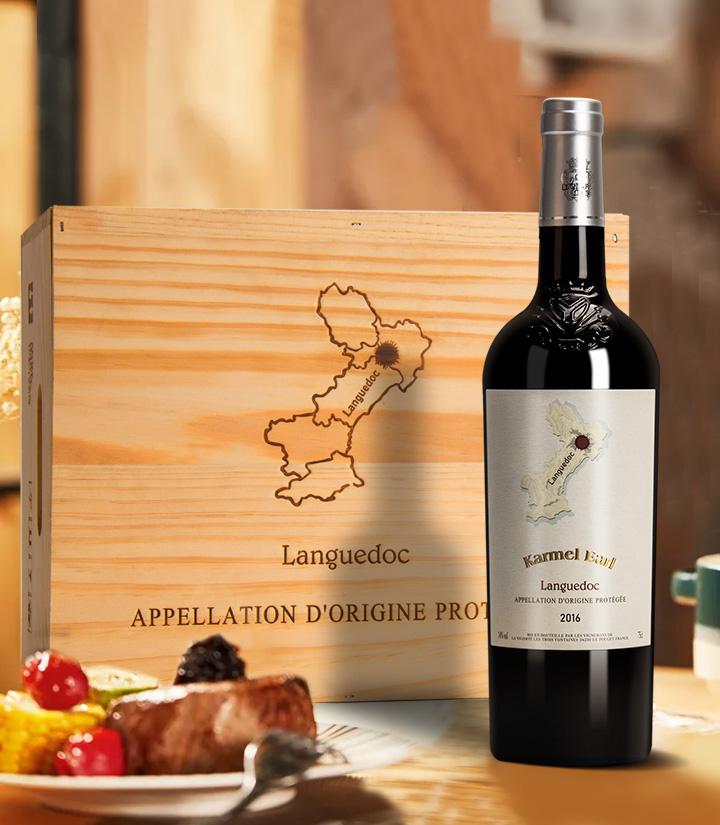 14°法国卡梅尔伯爵干红葡萄酒750ml 瓶