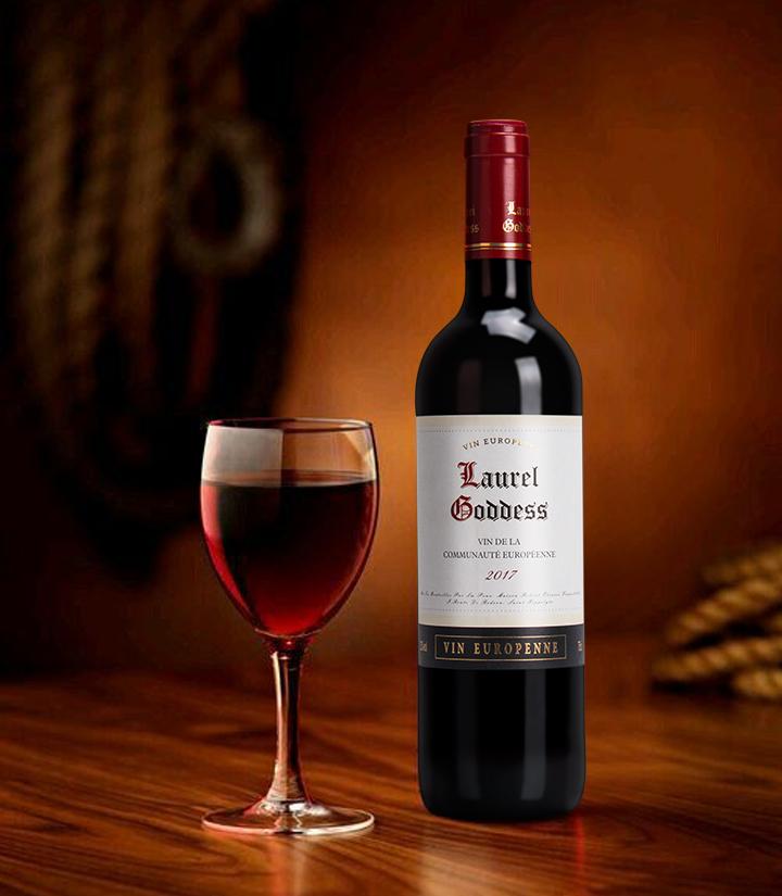 13°法国月桂女神干红葡萄酒750ml 件