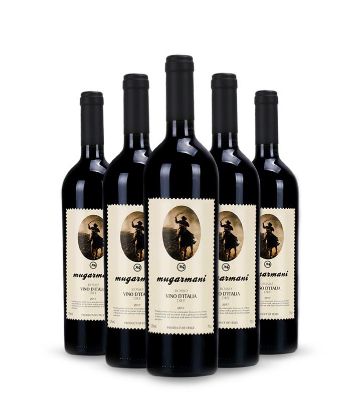 12°意大利慕伽玛黎干红葡萄酒750ml 瓶