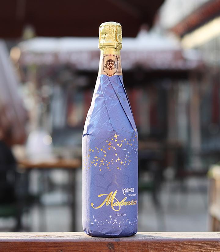7°意大利万多金牌美莎甜白起泡葡萄酒(货号E 蓝)750ml 瓶
