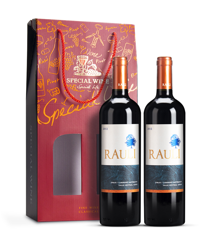 智利饶丽树西拉赤霞珠干红葡萄酒750ml 件